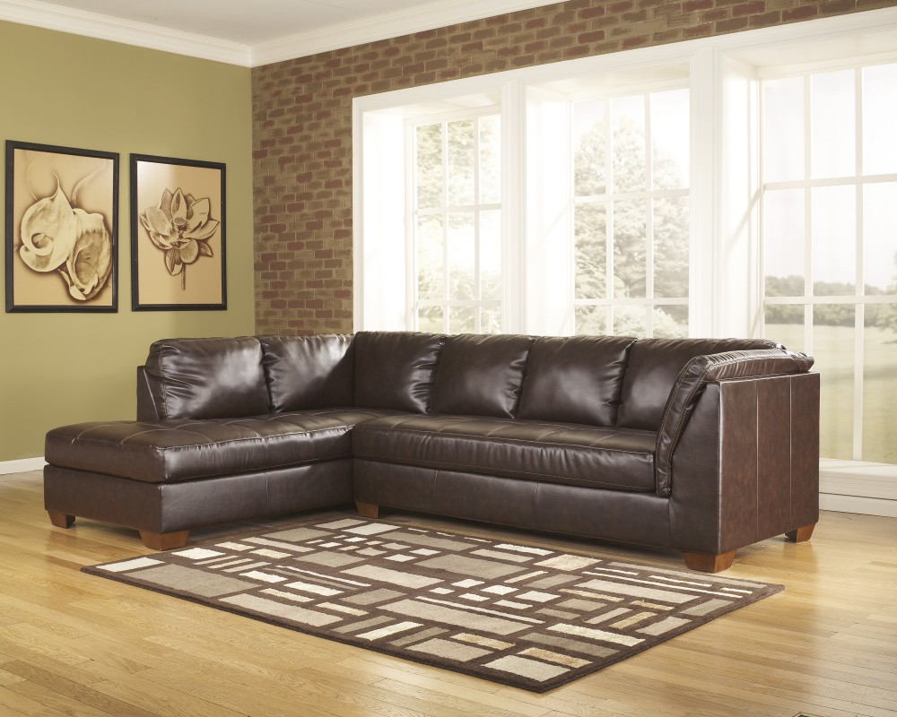 DuraBlend®   Mahogany   2 Pc. Leather Sectional