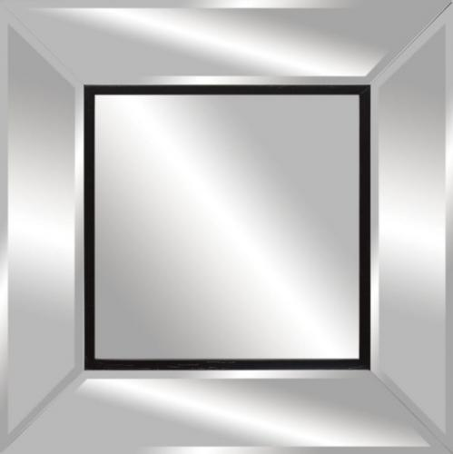 Modern Black Outline Mirror
