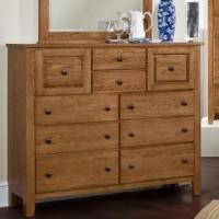 Simply Oak - Bureau - 10 Drawers - Light Oak Finish