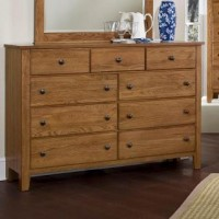 Simply Oak - Triple Dresser - 9 Drawers -Light Oak Finish