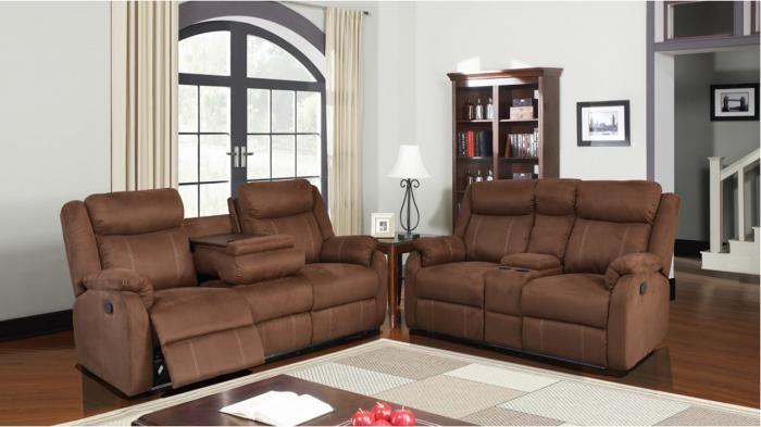 A.W.F. U9303 Chocolate Sofa and/or Recliner