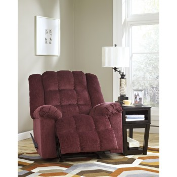 Ludden - Burgundy - Rocker Recliner