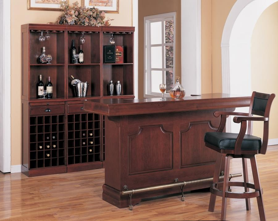 Bar Units Traditional Transitional Classic Cherry Wall
