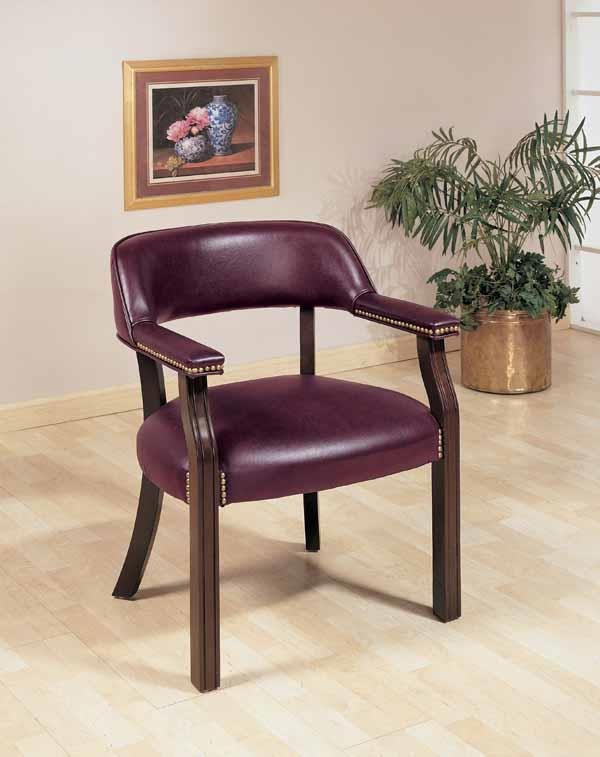 HOME OFFICE : CHAIRS - Burgundy Leatherette Office Chair