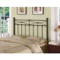 METAL HEADBOARD - Traditional Rustic Metal Headboard