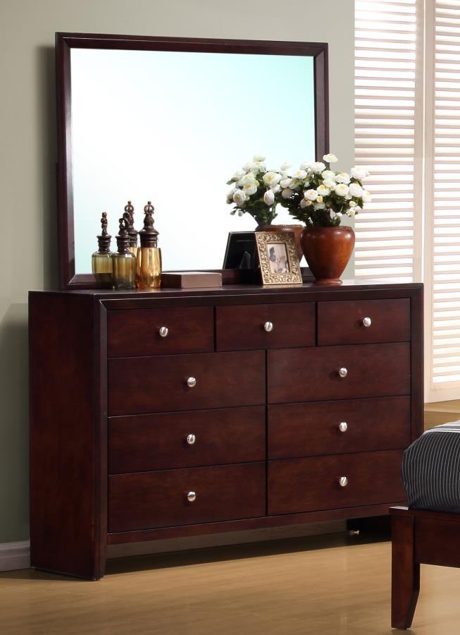 SERENITY COLLECTION - Serenity Rich Merlot Dresser Mirror