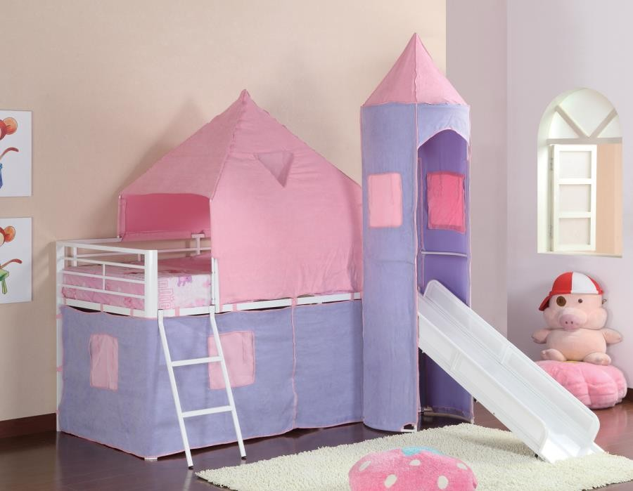 PRINCESS CASTLE TENT BED - TWIN LOFT BED