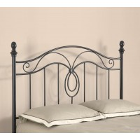 METAL HEADBOARD - Traditional Gunmetal Iron Headboard