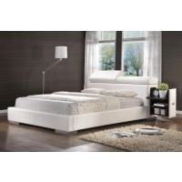 MAXINE UPHOLSTERED BED - Maxine Upholstered Queen Bed White