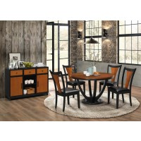 BOYER COLLECTION - Boyer Transitional Amber and Black Dining Table