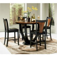 BOYER COLLECTION - Boyer Transitional Amber and Black Counter-Height Table