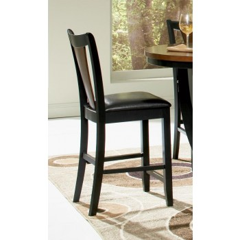 BOYER COLLECTION - Boyer Transitional Amber and Black Counter-Height Chair (Pack of 2)