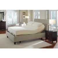 Premier Bedding Pinnacle Adjustable Bed Base - Premier Casual Beige Queen Adjustable Bed