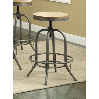 REC ROOM/ BAR TABLES: RUSTIC/INDUSTRIAL - Transitional Bar Stool (Pack of 2)
