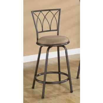 BAR STOOLS: METAL SWIVEL - Arches Counter-Height Chair (Pack of 2)