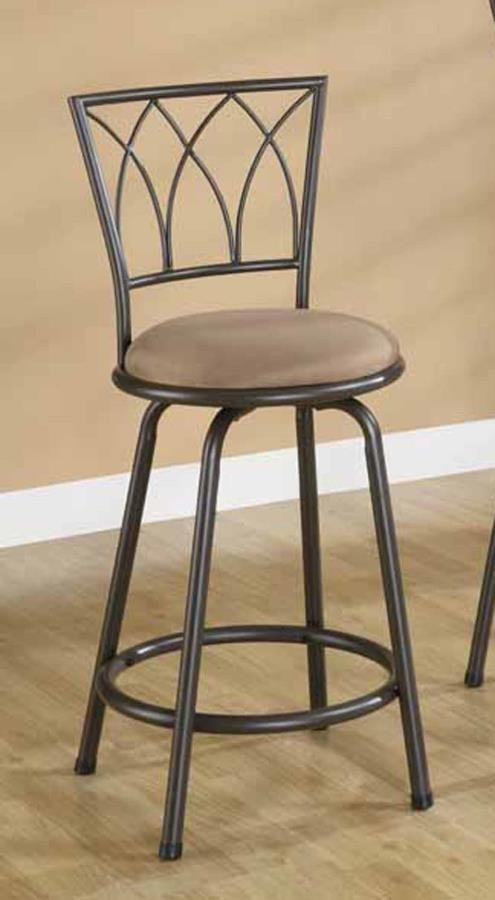Bar Stools Metal Swivel Counter Ht Chair Pack Of 2 122019