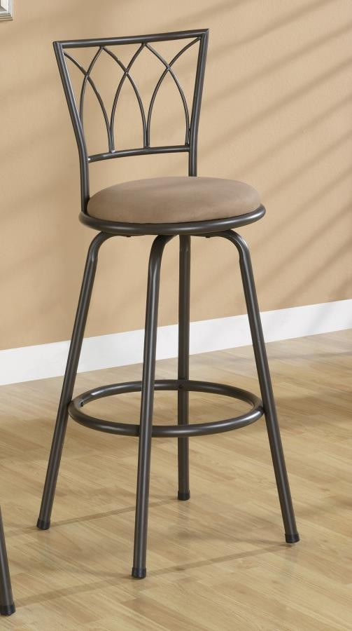 BAR STOOLS: METAL SWIVEL - Arches Bar Height Bar Stool (Pack of 2)