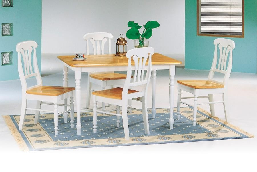 DINETTES: WOOD - Damen Country Rectangular Dining Table
