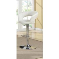 BAR TABLES: GAS LIFT - Rec Room Adjustable Bar Stool White