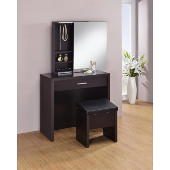 Cappuccino Vanity and Storage Bench