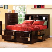 PHOENIX COLLECTION - Eastern King Bed Deep Cappuccino