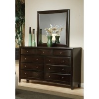 PHOENIX COLLECTION - Phoenix Transitional Deep Cappuccino Mirror