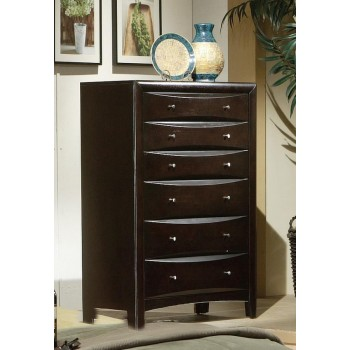 PHOENIX COLLECTION - Phoenix Cotemporary Six-Drawer Chest