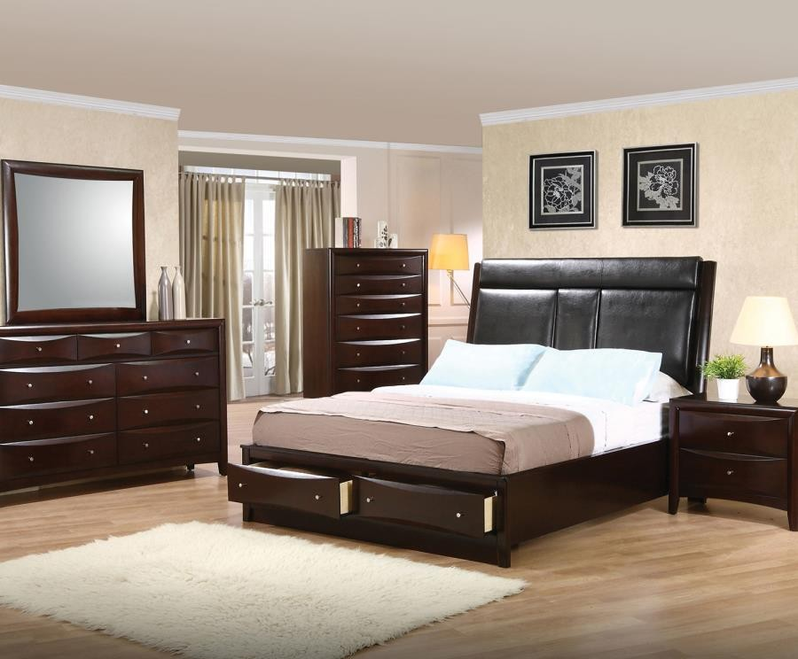 Phoenix Collection Cal King Bed 200419kw Complete