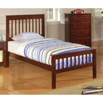 PARKER COLLECTION - Parker Transitional Chestnut Twin Bed