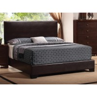 CONNER COLLECTION - Conner Transitional Dark Brown Upholstered Queen Bed