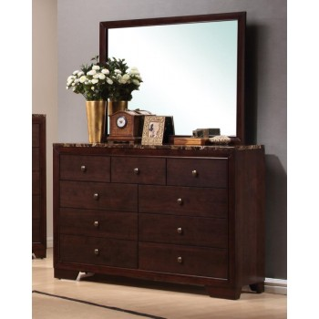 CONNER COLLECTION - Conner Casual Cappuccino Nine-Drawer Dresser