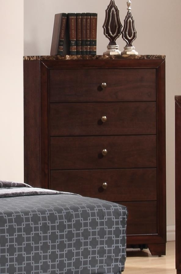 CONNER COLLECTION - Conner Casual Cappuccino Five-Drawer Chest