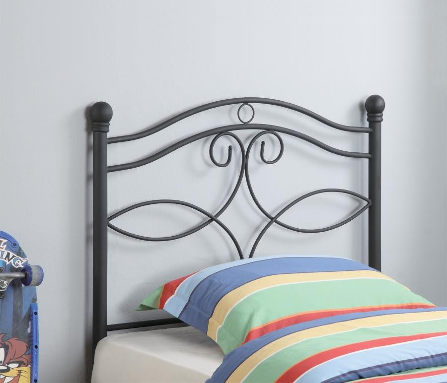 Metal Headboard Transitional Black Metal Twin Headboard 450102t Headboard Price Busters