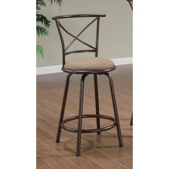 BAR STOOLS: METAL SWIVEL - COUNTER HT CHAIR (Pack of 2)