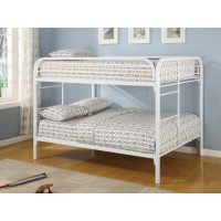 MORGAN BUNK BED - Fordham White Full-Over-Full Bunk Bed