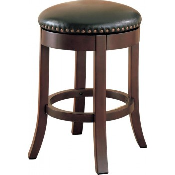 BAR STOOLS: WOOD FIXED HEIGHT - Casual Walnut Counter-Height  Bar Stool  (Pack of 2)