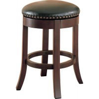 BAR STOOLS: WOOD FIXED HEIGHT - SWIVEL COUNTER HEIGHT STOOL (Pack of 2)