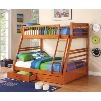 ASHTON BUNK BED - Ashton Honey Twin-over-Full Bunk Bed