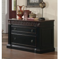 ROWAN COLLECTION - Rowan Traditional Black and Espresso File Cabinet