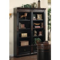 ROWAN COLLECTION - Rowan Traditional Black and Espresso Bookcase