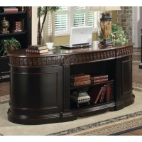 ROWAN COLLECTION - Rowan Traditional Black and Espresso Desk