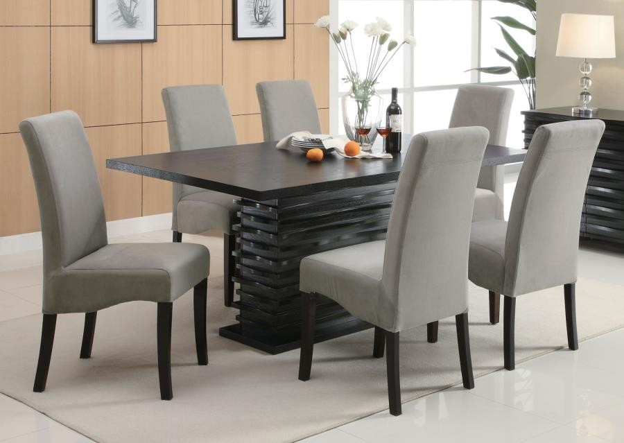 STANTON COLLECTION - Stanton Contemporary Black Rectangular Dining Table