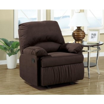 LIVING ROOM : GLIDER RECLINERS - Casual Chocolate Glider Recliner