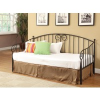 TWIN DAYBED - Traditional Black Metal Twin Daybed