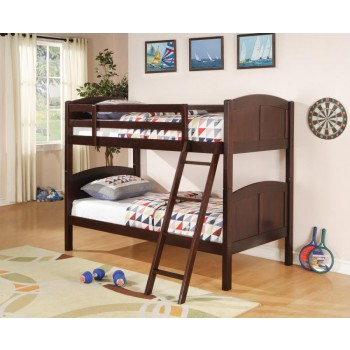 Parker Bunk Bed - Parker Chestnut Twin-over-Twin Bunk Bed