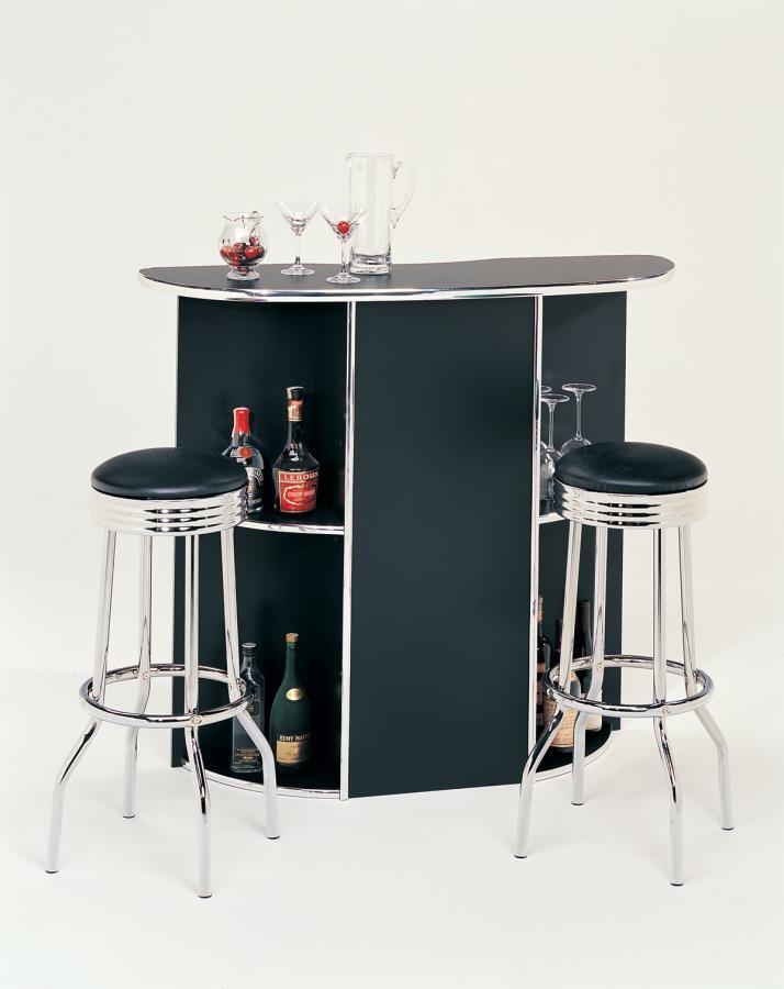 Rec Room Bar Tables Chrome Glass Cleveland Chrome Soda