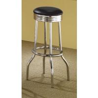 REC ROOM/ BAR TABLES: CHROME/GLASS - 29 BAR STOOL (Pack of 2)