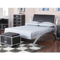 LECLAIR COLLECTION - LeClair Contemporary Black and Silver Youth Full Bed