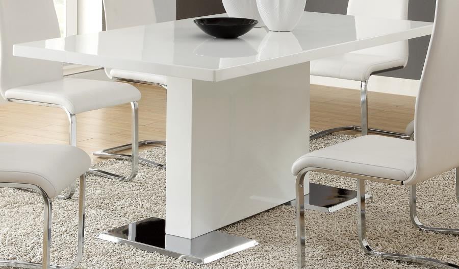 NAMETH COLLECTION - Nameth Contemporary White Dining Table