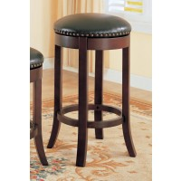 BAR STOOLS: WOOD FIXED HEIGHT - Casual Walnut 29